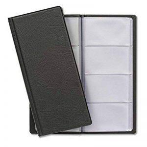 Porte Cartes de Visite pour 480 Cartes avec Intérieur Transparent | Protection des Cartes de Commercial | Idéal comme classeur pour cartes de visite de la marque niboline image 0 produit