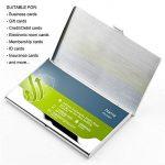 Porte-Cartes de Visite, SENHAI Lot de 2 Étuis de Protection en Inox pour Carte D'identité Carte de Crédit de la marque senhai image 4 produit