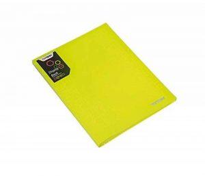 Porte-vues/lutin polypropylène 30 pochettes, format A4 - Jaune fluo de la marque ZEESTORE image 0 produit