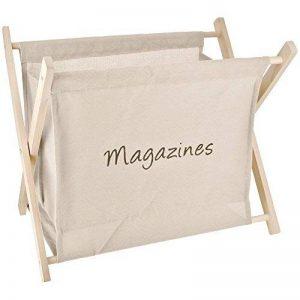 Promobo Porte Revues Rangement Magazine Design Vintage Bois Et Lin Crème de la marque Promobo image 0 produit