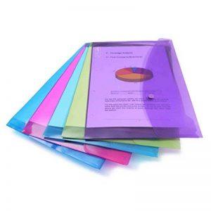 Rapesco Pochette Porte Document avec Bouton Pression en Polypropylène Transparent Papier Ministre (Lot de 5) en Couleurs Assorties de la marque Rapesco image 0 produit