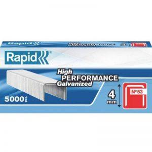 Rapid, 23808700, Agrafes en fil fin N°53, Longueur 4mm, 5000 pièces, Pour le textile et la décoration, Fil galvanisé, Haute performance de la marque Rapid image 0 produit