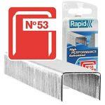 Rapid, 40109510, Agrafes en fil fin N°53, Longueur 8mm, 1080 pièces, Pour le textile et la décoration, Acier Inoxydable, Haute performance de la marque Rapid image 1 produit