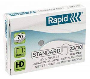 Rapid Agrafes en fil souple Standard N°23, Longueur 8 mm, 3000 Agrafes, Agrafe jusqu'à 40 feuilles, Fil galvanisé, 24870600 de la marque Rapid image 0 produit