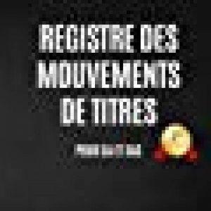 Registre des mouvements de titres: Pour SA et SAS - 2nde édition (2018) de la marque AL Notebooks image 0 produit