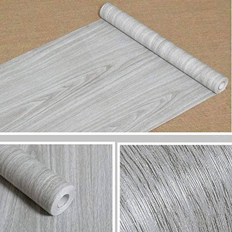 Papier Peint Autocollant Blanc Adhesif Effet Bois Hode