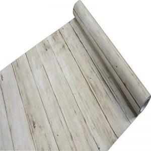 Revêtement en vinyle auto-adhésif Aspect de grain de bois pour comptoir de cuisine, placards, tiroirs, murs, travaux manuels (45cm x 10m, brun clair) de la marque F&U image 0 produit
