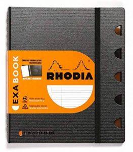 Rhodia Exabook 132576C Cahier Organisation Spirale A5+ 160 Pages Ligné avec Marge et Cadre en-Tête de la marque Exacompta image 0 produit