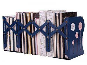 Serre-livres Pliable en Métal stable Réglable 155-350 X 147 X 190 mm Support Livres Dossier Documents DVD Holder Organisateur Comptable pour bureau maison bibliothèque de la marque ITODA image 0 produit