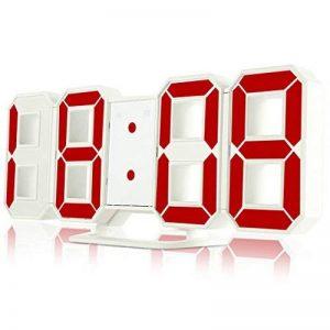 SHuzisa Horloge Murale Moderne Original Digital 3D Led Montres Horloge De Table Horloge Affichage 12/24 Heures De RéPéTition De L'Alarme 24 RéVeil Red de la marque SHuzisa image 0 produit