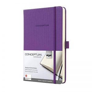 Sigel CO561 Carnet de notes CONCEPTUM, 13,5 x 20,3 cm, quadrillé, couverture rigide, violet de la marque Sigel image 0 produit
