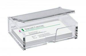 Sigel VA112 Porte-cartes de visite, pour 80 cartes format 9 x 5,8 cm, en acrylique transparent de la marque Sigel image 0 produit