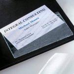Sigel VZ115 Lot de 100 pochettes en film plastique pour carte de visite, autocollant, 9 x 5,5 cm, transparent de la marque Sigel image 2 produit