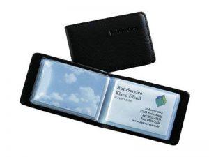 Sigel VZ170 Porte-cartes de visite, jusqu'à 40 cartes, 9 x 5,8 cm, similicuir, noir de la marque Sigel image 0 produit
