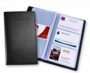 Sigel VZ171 Porte-cartes de visite, jusqu'à 120 cartes, 9 x 5,8 cm, similicuir, noir de la marque Sigel image 0 produit