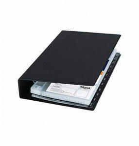 Sigel VZ300 Porte-cartes de visite, jusqu'à 200 cartes, extansible, 9 x 5,8 cm, noir de la marque Sigel image 0 produit