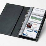 Sigel VZ300 Porte-cartes de visite, jusqu'à 200 cartes, extansible, 9 x 5,8 cm, noir de la marque Sigel image 2 produit