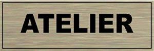 Signalisation Alu brossé Plaque de porte ATELIER de la marque SAFIRMES image 0 produit