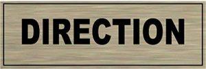 Signalisation Alu brossé Plaque de porte DIRECTION de la marque SAFIRMES image 0 produit