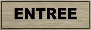 Signalisation Alu brossé Plaque de porte ENTREE de la marque SAFIRMES image 0 produit