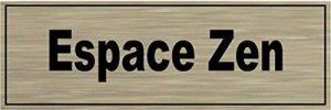 Signalisation Alu brossé Plaque de porte Espace-Zen de la marque SAFIRMES image 0 produit