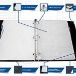 Skittz livre de carte de visite Cuir Organiseur à anneaux W/manches 600Capacité de stockage de la marque Skittz image 3 produit