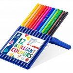 Staedtler Ergosoft 157, Crayon de couleur avec sytème anti-casse, Pour coloriage enfant et adulte, Set de 12 couleurs lumineuses, mine douce 3 mm, 157 SB12 de la marque Staedtler image 1 produit