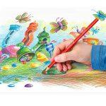Staedtler Ergosoft 157, Crayon de couleur avec sytème anti-casse, Pour coloriage enfant et adulte, Set de 12 couleurs lumineuses, mine douce 3 mm, 157 SB12 de la marque Staedtler image 4 produit
