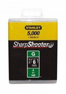 """Stanley - Agrafes Type G 6Mm - 1/4"""" Pour Agrafeuse (Boite 5000) 1-Tra704-5T de la marque Stanley image 0 produit"""