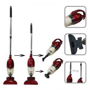 Todeco - Aspirateur 2 en 1 Balai et à Main, Balai Éléctrique - Capacité du bac à poussière: 1,3L - Puissance maximale: 800 W - Rouge de la marque Todeco image 0 produit