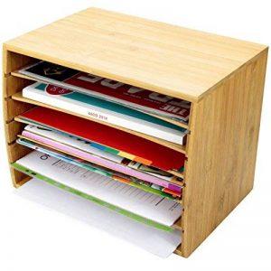 Trieur de documents de bureau en bambou Document A4Organiseur 5compartiments de rangement de la marque Woodquail image 0 produit