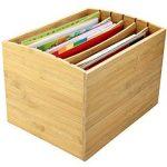 Trieur de documents de bureau en bambou Document A4Organiseur 5compartiments de rangement de la marque Woodquail image 2 produit