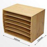 Trieur de documents de bureau en bambou Document A4Organiseur 5compartiments de rangement de la marque Woodquail image 4 produit