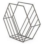 UMBRA Zina. Porte-revues Zina à poser ou à fixer au mur. En métal, finition titanium. Dimension 38x12x33cm de la marque Umbra image 2 produit