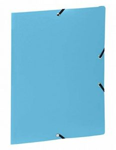 Viquel Chemise 3 rabats A4 en polypropylène fermeture à élastique Bleu Turquoise de la marque Viquel image 0 produit