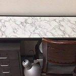 WDragon Revêtement autocollant en vinyle pour plan de travail de cuisine Motif marbre Blanc/gris 30,5x 200,7cm de la marque WDragon image 4 produit