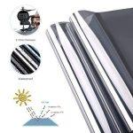 XC KINLO 300x75CM Film Miroir Fenêtre Electrostatique Anti Chaleur Films pour Fenêtre PVC Protection de Solaire Auto-Adhésif Anti 99% UV Film Vitrage pour Maison Bureau Magasin (Bleu Argent) de la marque XC image 3 produit