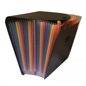 Yebmoo 13compartiments extensible dossier de fichiers/A4extensible Trieur Ménager/portable accordéon File Folder/Grande capacité multicolores support/plastique Business File Boîte de rangement pour Folder-24kFG de la marque YEBMoo image 0 produit